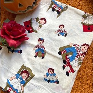 Vintage Raggedy Ann & Andy single curtain❤️
